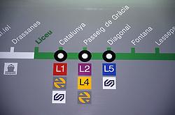 Barcelona Metro map,