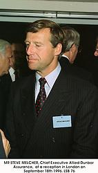 MR STEVE MELCHER, Chief Executive Allied Dunbar Assurance,  at a reception in London on September 18th 1996.LSB 76