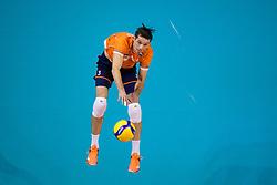 06-01-2020 NED: CEV Tokyo Volleyball European Qualification Men, Berlin<br /> Match Serbia vs. Netherlands 3-0 / Maarten van Garderen #3 of Netherlands
