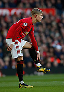 Brandon Williams of Manchester United with his fancy boots during the Premier League match at Old Trafford, Manchester. Picture date: 8th March 2020. Picture credit should read: Darren Staples/Sportimage