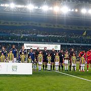 Fenerbahce's and Galatasaray's players during their Turkish superleague soccer derby Fenerbahce between Galatasaray at the Sukru Saracaoglu stadium in Istanbul Turkey on Sunday 08 March 2015. Photo by Kurtulus YILMAZ/TURKPIX