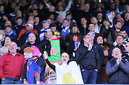Cardiff city fans in fancy dress during the Sky Bet Championship match between Sheffield Wednesday and Cardiff City at Hillsborough, Sheffield, England on 30 April 2016. Photo by Phil Duncan.