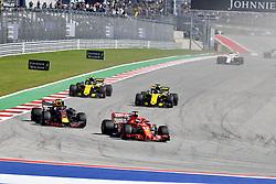 October 21, 2018 - Austin, United States - Motorsports: FIA Formula One World Championship; 2018; Grand Prix; United States, FORMULA 1 PIRELLI 2018 UNITED S GRAND PRIX , Circuit of The Americas , #5 Sebastian Vettel (GER, Scuderia Ferrari)#33 Max Verstappen (NDL, Red Bull Racing) (Credit Image: © Hoch Zwei via ZUMA Wire)