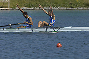 2005 FISA Rowing World Cup Munich,GERMANY. 19.06.2005; ITA LM 2- Zac Purchase.Photo  Peter Spurrier. .email images@intersport-images.[Mandatory Credit Peter Spurrier/ Intersport Images] Rowing Course, Olympic Regatta Rowing Course, Munich, GERMANY