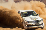 Sarel van der Merwe hosts the 8th Volkswagen Commercial Vehicles Amarok Spirit of Africa Challenge finals at Assen Kerhr in Southern Namibia. 20 teams compete over four days in an atmept to claim the title. Image by Greg Beadle Global sport and corporate event photography by Greg Beadle. Greg captures the energy and emotion of international events including the World Economic Forum, Tour de France, Cape Epic MTB and the Cape Town Cycle Tour