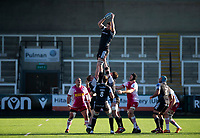 Rugby Union - 2020 / 2021 Gallagher Premiership - Round 11 - Newcastle Falcons vs Harlequins - Kingston Park<br /> <br /> Greg Peterson of Newcastle Falcons wins a line out<br /> <br /> Credit: COLORSPORT/BRUCE WHITE