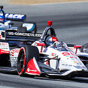 Sept 22, 2019 Monterey, CA, U.S.A. Andretti Herta Autosport with Curb-Agajanian driver Marco Andretti (98) coming out of turn 5 during the Firestone Grand Prix of Monterey IndyCar Championship at Weathertech Raceway Laguna Seca Monterey, CA  Thurman James / CSM
