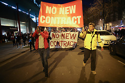 7 March 2017 - UEFA Champions League - (Round of 16) - Wenger Protest - Arsenal fans march in protest at Arsene Wenger - Photo: Mark Leech / Offside.