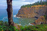 Pacific cove photographed from Cape Meares, Oregon, USA, 200808310691.<br /> <br /> Copyright Image from Victor Patterson, Belfast, UK<br /> <br /> t: +44 28 9066 1296 (from Rep of Ireland 048 9066 1296)<br /> m: +44 7802 353836<br /> <br /> victorpattersonbelfast@gmail.com<br /> <br /> www.victorpatterson.com OR <br /> www.images4media.com<br /> <br /> Please see my Terms and Conditions of Use at https://www.victorpatterson.com/page2<br /> It is IMPORTANT that you familiarise yourself with them.<br /> <br /> Images used on the Internet incur an additional cost and must be visibly watermarked i.e. © Victor Patterson within the body of the image and copyright metadata must not be deleted. Images used on the Internet have a size restriction of 4 kbs and are chargeable at rates available at victorpatterson.com.<br /> <br /> This image is only available for the use of the download recipient i.e. television station, newspaper, magazine, book publisher, etc, and must not be passed on to any third party. It is also downloaded on condition that each and every usage is notified within 7 days to victorpattersonbelfast@gmail.com.<br /> <br /> The right of Victor Patterson to be identified as the author is asserted in accordance with The Copyright Designs And Patents Act (1988). All moral rights are asserted.