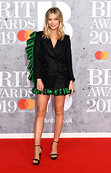 February 21, 2019 - London, London, United Kingdom - Image licensed to i-Images Picture Agency. 20/02/2019. London, United Kingdom. Laura Whitmore at the Brit Awards in London. (Credit Image: © i-Images via ZUMA Press)