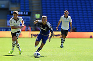 Joe Ralls of Cardiff city © in action. Skybet football league championship match, Cardiff city v Fulham at the Cardiff city stadium in Cardiff, South Wales on Saturday 8th August  2015.<br /> pic by Andrew Orchard, Andrew Orchard sports photography.