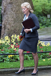 Downing Street, London, May 10th 2016. Small Business Minister Anna Soubry arrives at the weekly cabinet meeting in Downing Street.