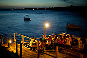 Tibau do Sul_RN, Brasil...Na foto, turistas em creperia na beira da Lagoas das Guarairas em Tibau do Sul, Rio Grande do Norte...Tourists near Guarairas lake in Tibau do Sul, Rio Grande do Norte...Foto: LEO DRUMOND / NITRO