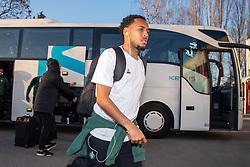 February 22, 2019 - Dijon, France - SALIBA William ( Saint Etienne ) - Arrivee des joueurs de Saint Etienne (Credit Image: © Panoramic via ZUMA Press)
