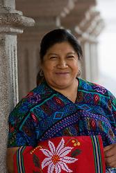 Portrait of Estefan Perez Marin, tapestry maker, San Antonio Aguas Calientes, Guatemala