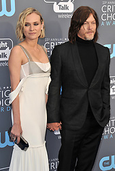 Diane Kruger and Norman Reedus at The 23rd Annual Critics' Choice Awards held at the Barker Hangar on January 11, 2018 in Santa Monica, CA, USA (Photo by Sthanlee B. Mirador/Sipa USA)