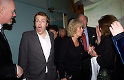 Camilla Parker Bowles and Tom Parker Bowles, Tom Parker Bowles, Susan Hill and Matthew Rice host party to launch 'E is For Eating' Kensington Place. 3 November 2004.  ONE TIME USE ONLY - DO NOT ARCHIVE  © Copyright Photograph by Dafydd Jones 66 Stockwell Park Rd. London SW9 0DA Tel 020 7733 0108 www.dafjones.com