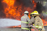 63818-02603 Firefighters at oilfield tank training, Marion Co., IL