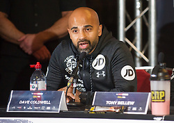 May 3, 2018 - London, London, United Kingdom - Bellew vs David Haye press conference. ..Dave Coldwell during the press conference...Tony Bellew vs David Haye press conference at Park Plaza hotel. (Credit Image: © Gustavo Valiente/i-Images via ZUMA Press)