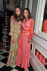 Left to right, LADY NATASHA RUFUS ISAACS and LAVINIA BRENNAN at a reception hosted by Beulah London and the United Nations to launch Beulah London's AW'11 Collection 'Clothed in Love' and the Beulah Blue Heart Campaign held at Dorsia, 3 Cromwell Road, London SW7 on 18th October 2011.