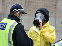 arrests made as thousands of Anti-Lockdown protesters march through london London during the coronavirus pandemic 21st march 2021 photo by Krisztian Elek