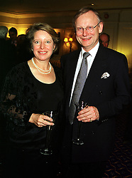 MR & MRS JOHN GUMMER he is the former Conservative Government minister, at a party in London on 18th October 1999.MXY 50