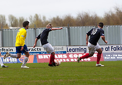 Falkirk's Craig Sibbald scoring their first goal..Falkirk 4 v 1 Morton, 4/5/2013..© Michael Schofield..