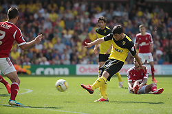 Watford's Fernando Forestieri tries another shot  - Photo mandatory by-line: Nigel Pitts-Drake/JMP - Tel: Mobile: 07966 386802 25/08/2013 - SPORT - FOOTBALL -Vicarage Road Stadium - Watford -  Watford v Nottingham Forest - Sky Bet Championship