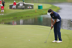 June 24, 2018 - Cromwell, Connecticut, United States - Bubba Watson putts the 15th hole during the final round of the Travelers Championship at TPC River Highlands. (Credit Image: © Debby Wong via ZUMA Wire)