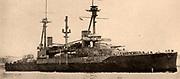 British battleship 'Agincourt' (ex Birinji Osman), 27,500 tons, carrying a main armament of fourteen 12-inch guns.