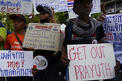 May 5, 2018 - Bangkok, Bangkok, Thailand - Thai pro-democracy activists and supporters display placards during a demonstration against military's in Bangkok, Thailand May 5, 2018. (Credit Image: © Anusak Laowilas/NurPhoto via ZUMA Press)