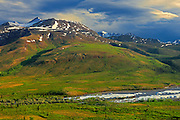 Ogilvie Mountains  along the Dempster Highway<br /> Yukon<br /> Canada