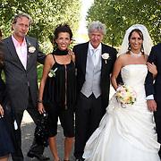 NLD/Laren/20070829 - Huwelijk Willibrord Frequin en Susanne Rastin, met kinderen Barbara, Rebecca en Louis