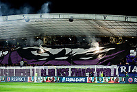 MARIBOR, SLOVENIA - OCTOBER 17: Viole, supporters of Maribor during UEFA Champions League 2017/18 group E match between NK Maribor and Liverpool FC at Stadium Ljudski vrt, on October 17, 2017 in Maribor, Slovenia. (Photo by Vid Ponikvar / Sportida)