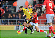Bobby Reid, Cristhian Stuani during the Sky Bet Championship match between Bristol City and Middlesbrough at Ashton Gate, Bristol, England on 16 January 2016. Photo by Daniel Youngs.