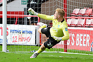 Cameron Dawson of Sheffield Wednesday allows a penalty during the EFL Cup match between Walsall and Sheffield Wednesday at the Banks's Stadium, Walsall, England on 5 September 2020.