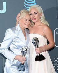 24th Annual Critics Choice Awards - Press Room. 13 Jan 2019 Pictured: Glenn Close and Lady Gaga. Photo credit: TPI/MEGA TheMegaAgency.com +1 888 505 6342