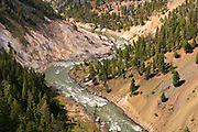 Yellowstone River from Calcite Springs