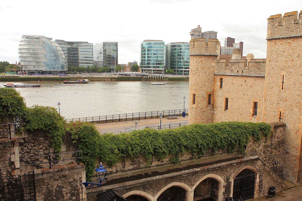 Tower Of London - Historic And Modern View - London