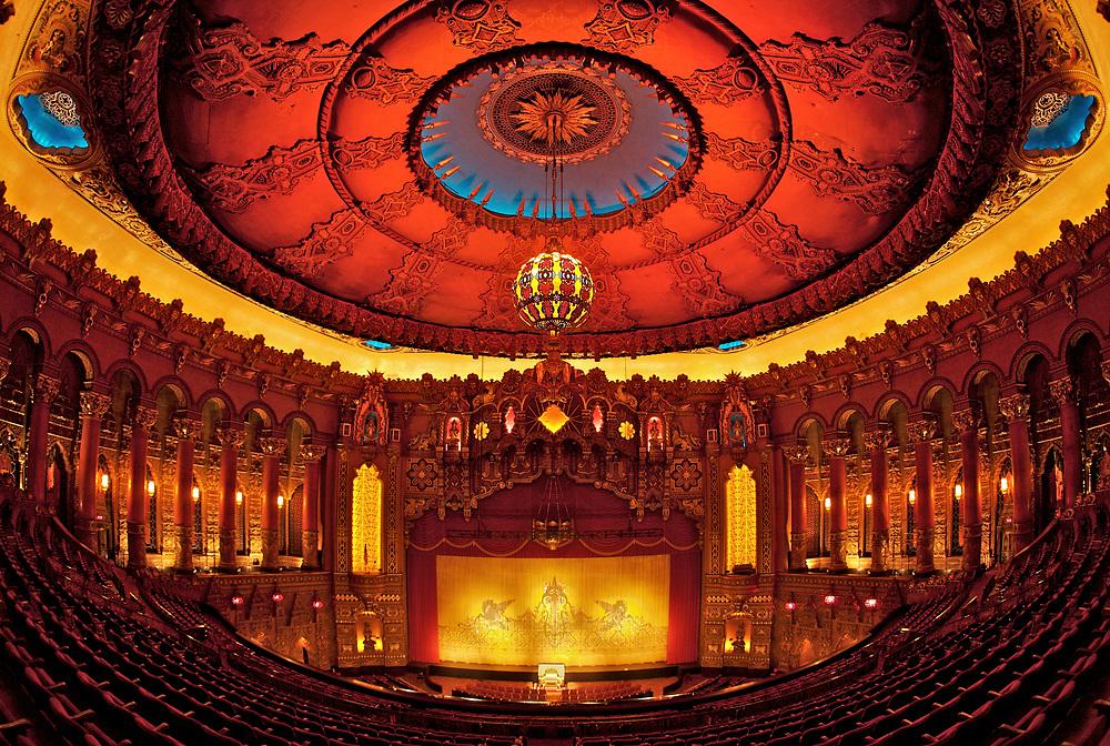 Interior view of the Fox Theatre in St. Louis, Missouri