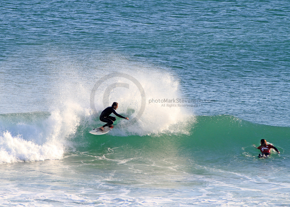 free surfing action from Blackhead beach