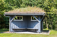 OUDEMIRDUM - Schuilhut. Golfclub Gaasterland ligt in Zuidwest-Friesland en heeft een schitterende 9 holes natuurbaan. COPYRIGHT KOEN SUYK
