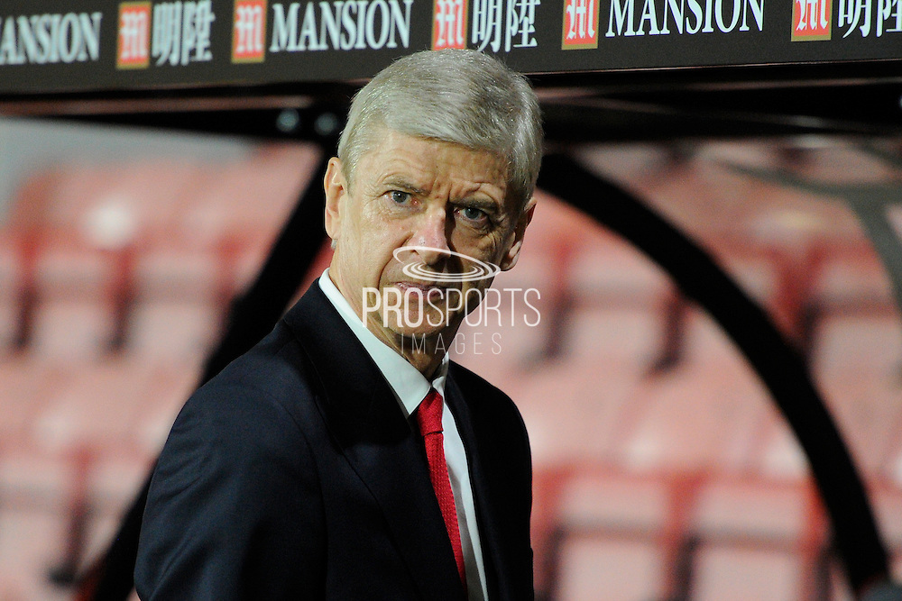 Arsenal manager Arsene Wenger before the Premier League match between Bournemouth and Arsenal at the Vitality Stadium, Bournemouth, England on 3 January 2017. Photo by Graham Hunt.