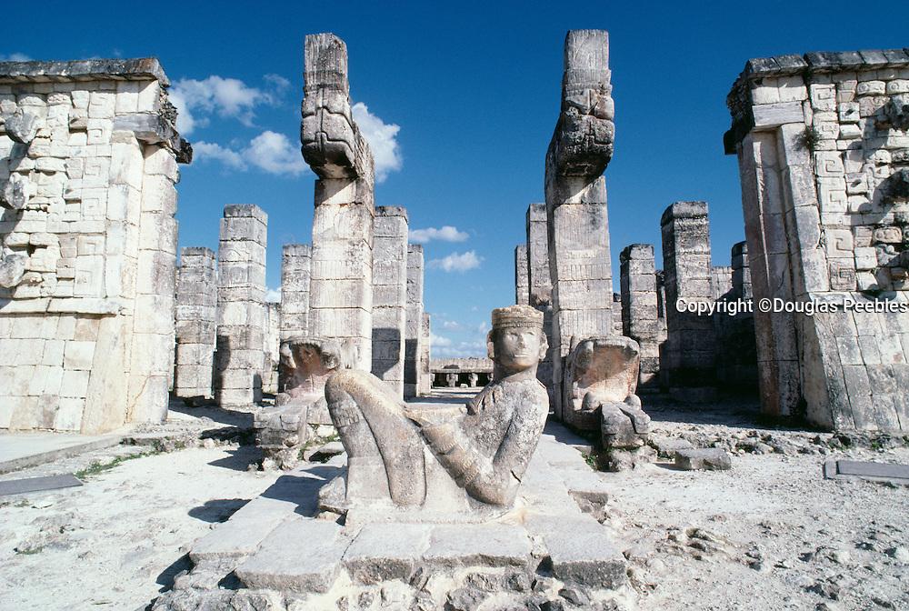 Statue, Chichen Itza, Yucatan, Mexico