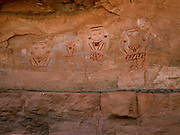 Four Faces Pictograph Panel, Salt Creek Canyon, Needles District, Canyonlands National Park, Utah