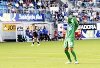 Fotball 5. juli 2012  , NM 4. runde<br /> Sandefjord - Aalesund<br /> Sten Grytebust , Aalesund depper etter tabbe