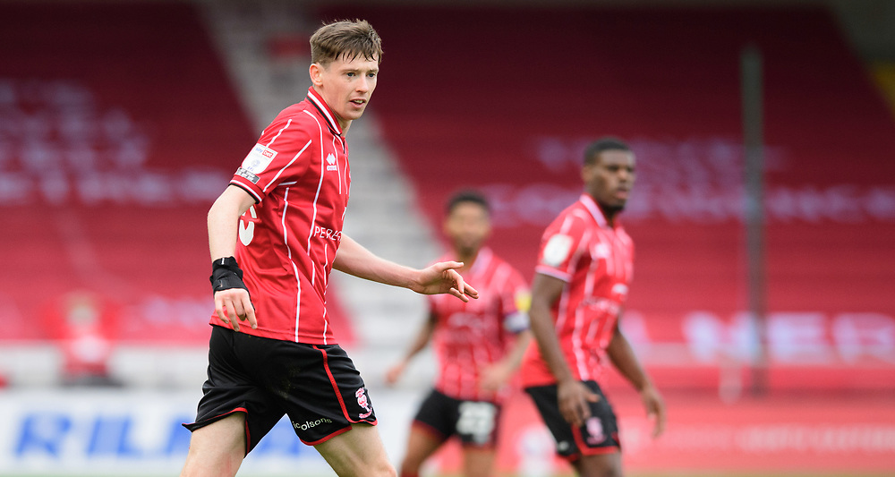 Lincoln City's Conor McGrandles<br /> <br /> Photographer Chris Vaughan/CameraSport<br /> <br /> The EFL Sky Bet League One - Lincoln City v Charlton Athletic - Sunday 27th September, 2020 - LNER Stadium - Lincoln<br /> <br /> World Copyright © 2020 CameraSport. All rights reserved. 43 Linden Ave. Countesthorpe. Leicester. England. LE8 5PG - Tel: +44 (0) 116 277 4147 - admin@camerasport.com - www.camerasport.com