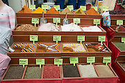 Turkey, Antalya, The old city Spice shop in the Old Bazaar