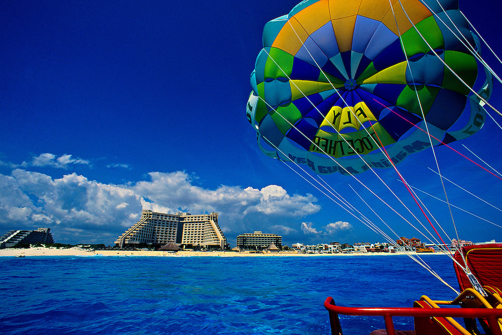 Skyrider (Parasail for two), Caribbean Sea off of Cancun, Mexico