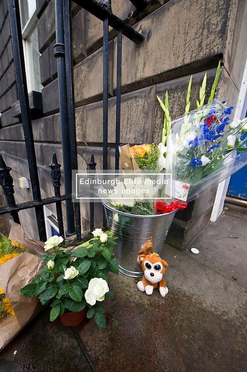 Floral tributes were left outside the Institut français d'Écosse  in Randolph Crescent in Edinburgh today in memory of the 84 killed in Nice yesterday<br /> <br /> (c) Ger Harley | Edinburgh Elite media